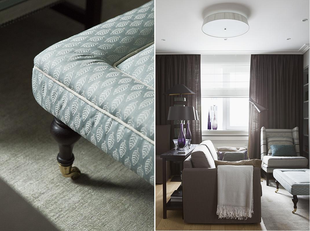 Вид на малую гостиную из спальни. Детали малой гостиной